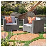 Murano Wicker Patio Club Chairs With Cushions