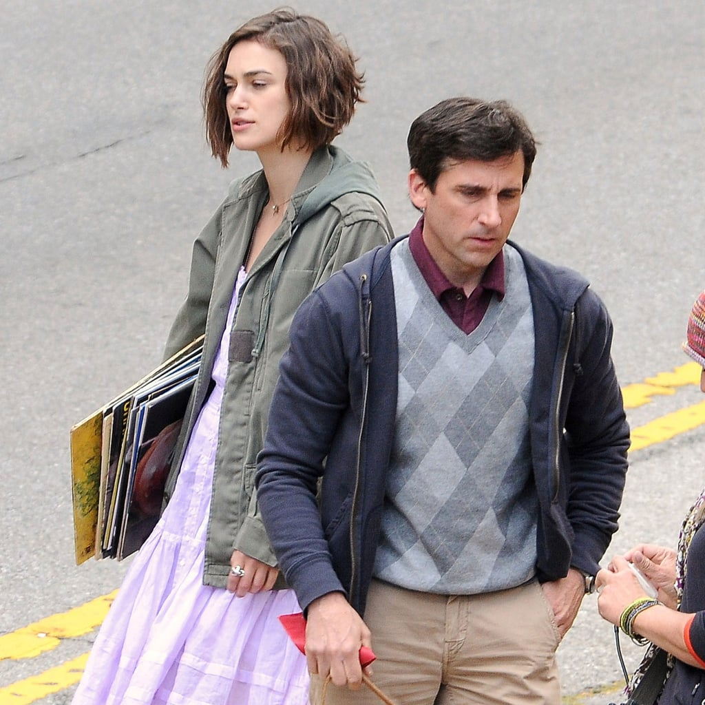 Pictures of Keira Knightley and Steve Carell on Set in LA