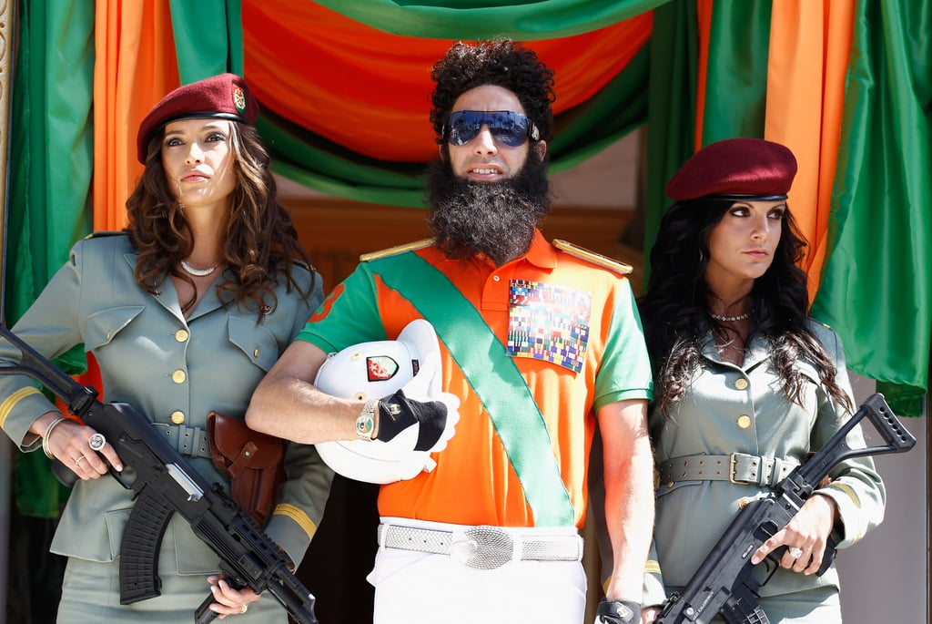 Sacha Baron Cohen made a grand entrance as The Dictator at Cannes Film Festival.