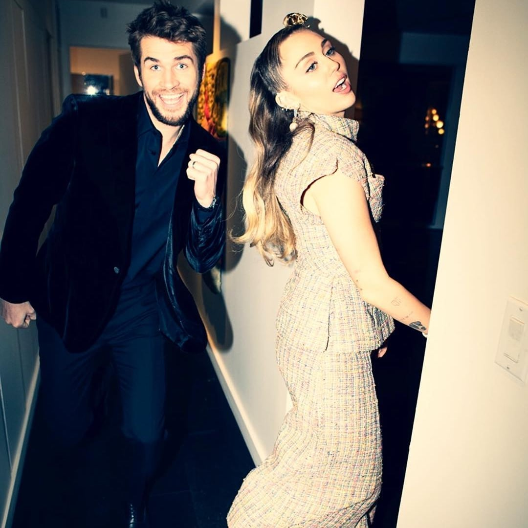 Liam Hemsworth and Miley Cyrus Cute Instagram Pictures | POPSUGAR Celebrity UK