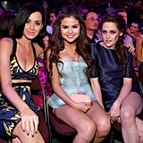 Kristen Stewart, Katy Perry, and Selena Gomez hung out at the Kids' Choice Awards.