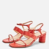 Topshop Dita Red Strap Sandals