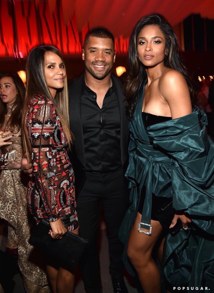 Pictured: Halle Berry, Russell Wilson, and Ciara
