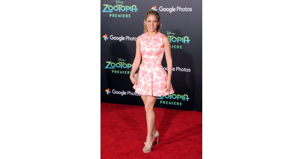 Shakira S Pink Dress At Disney S Zootopia Premiere