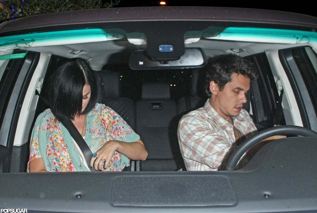 John Mayer and Katy Perry were spotted leaving a romantic dinner date in LA.