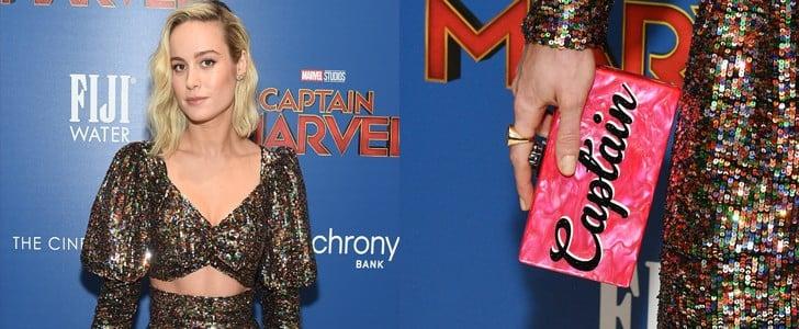 """Brie Larson """"Captain"""" Clutch"""