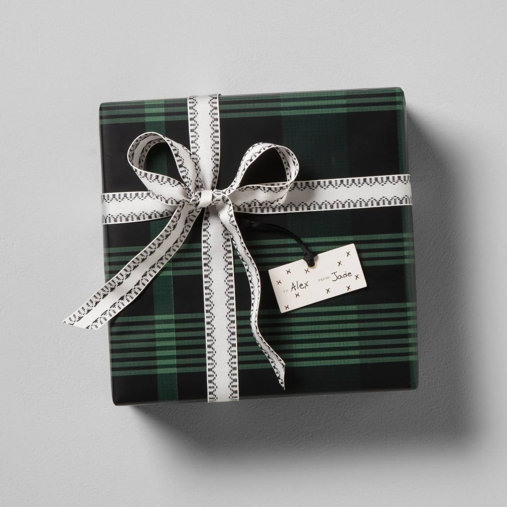 Hearth & Hand With Magnolia Plaid Gift Wrap