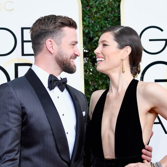 Justin Timberlake and Jessica Biel at the 2017 Golden Globes