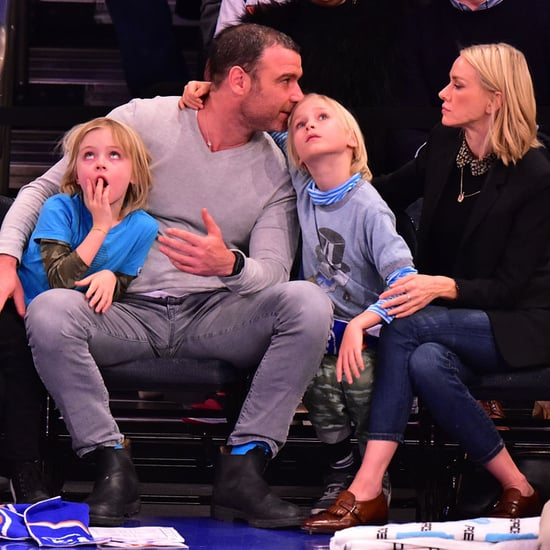 Watts and Schreiber with kids