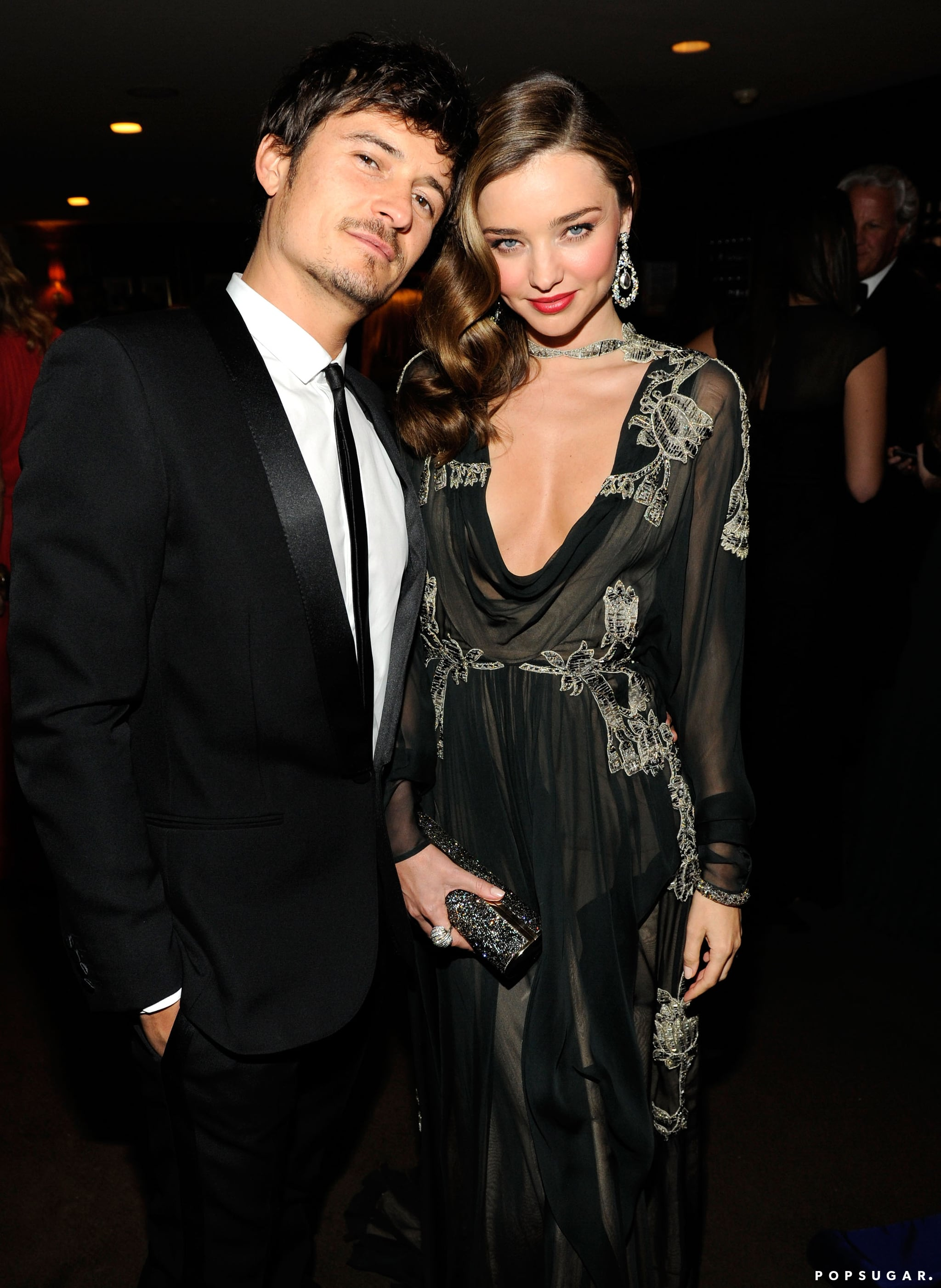 Orlando Bloom and Miranda Kerr attended the Vanity Fair party on Sunday night.