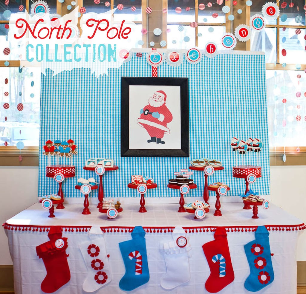 Christmas dessert table decoration ideas - North Pole Christmas Dessert Table