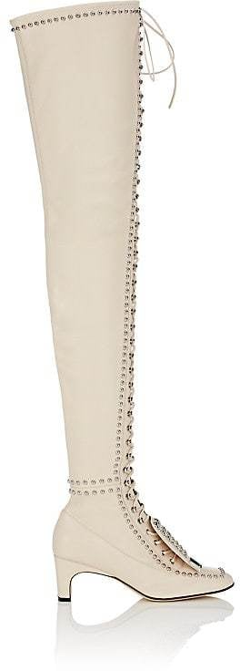 Sergio Rossi Women's Studded Leather Over-The-Knee Boots
