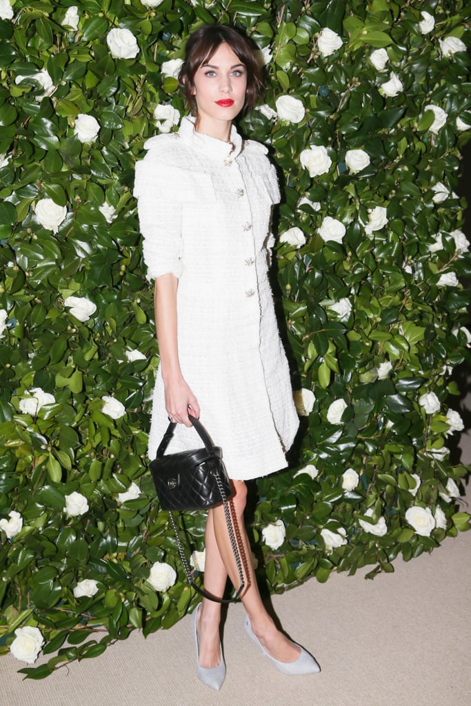 Alexa Chung celebrated her birthday in Chanel while at the MoMA Film Benefit.