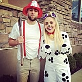Dalmatian and Firefighter