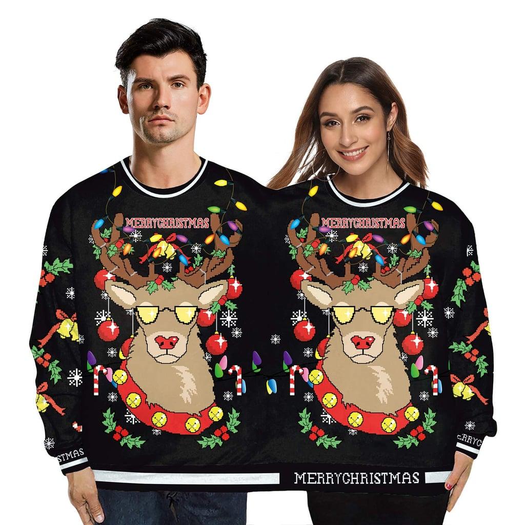 Men/'s Enjoy Christmas Santa Camo Raglan Sweatshirt Ugly Sweater Happy Holidays