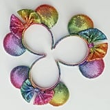 Rainbow Ombre Sequined Minnie Ears ($30)