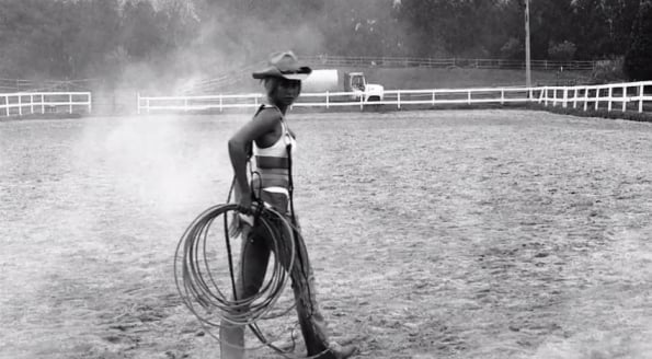 She's really good at all things cowgirl.