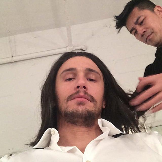 James Franco showed off an interesting new look. Source: Instagram user jamesfrancotv
