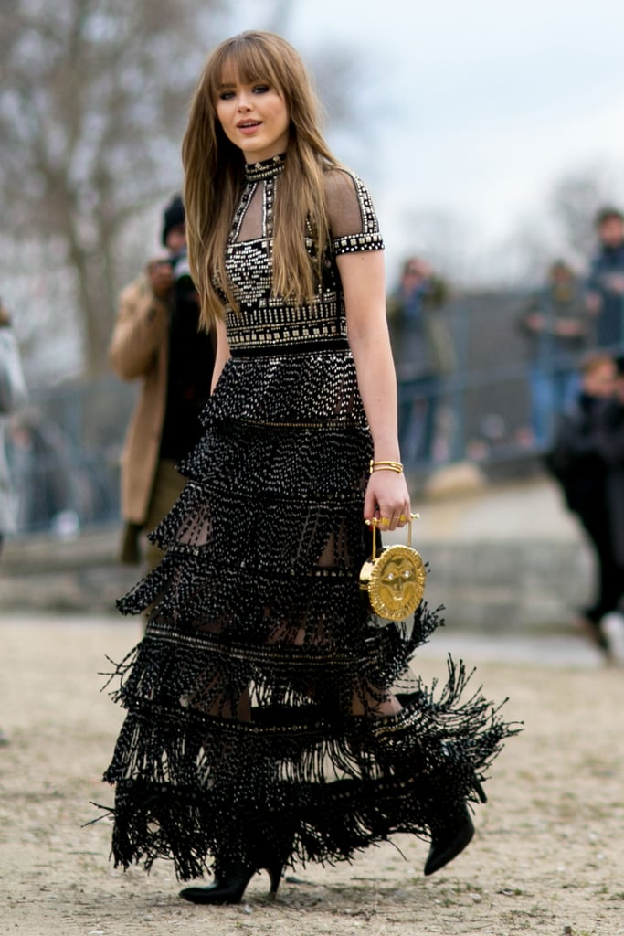 Kristina Bazan wearing Valentino