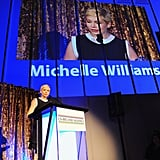 Michelle Williams thanked an Irish film committee.