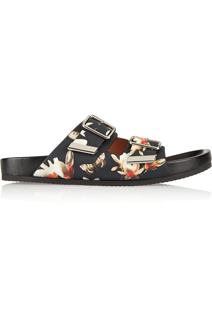 Givenchy Leather Sandals in Magnolia Print