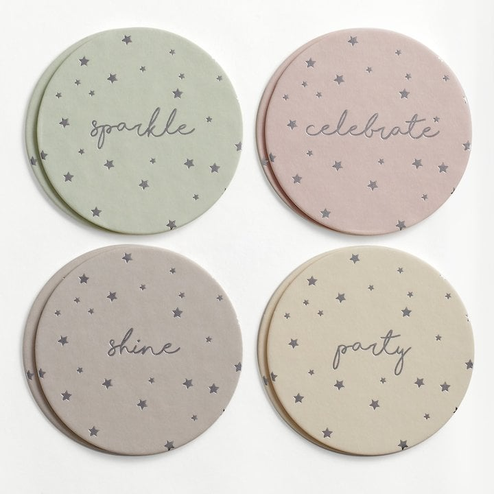 "Lauren Conrad Sparkle"" Stars Coaster Set"
