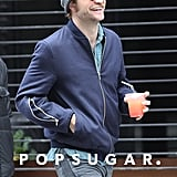 Robert Pattinson was all smiles as he walked around Toronto on Tuesday.