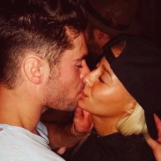 Zac Efron and Sami Miro Kissing Picture