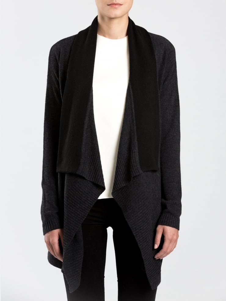White + Warren Cashmere Double-Faced Cardigan