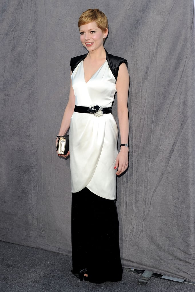 Michelle Williams was all smiles in Chanel.