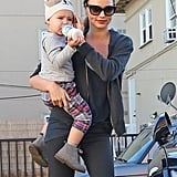 Miranda Kerr and Flynn Bloom fit in a trip to the gym.