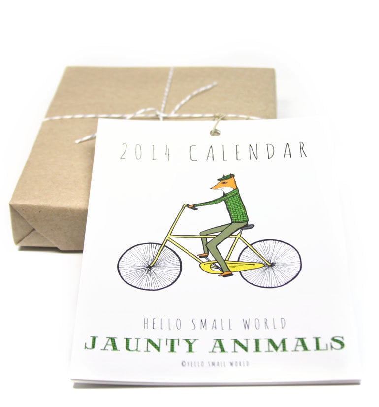 HelloSmallWorld Jaunty Animals Calendar