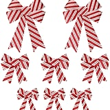 Christmas Candy Cane Bow Set