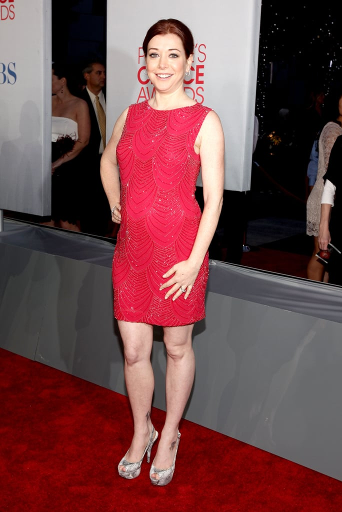 Pregnant Alyson Hannigan at the People's Choice Awards.