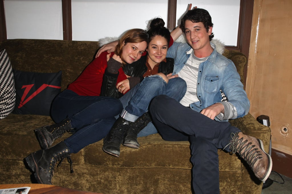Miles Teller, Brie Larson, and Shailene Woodley snuggled at a party on Friday while at the Sundance Film Festival.