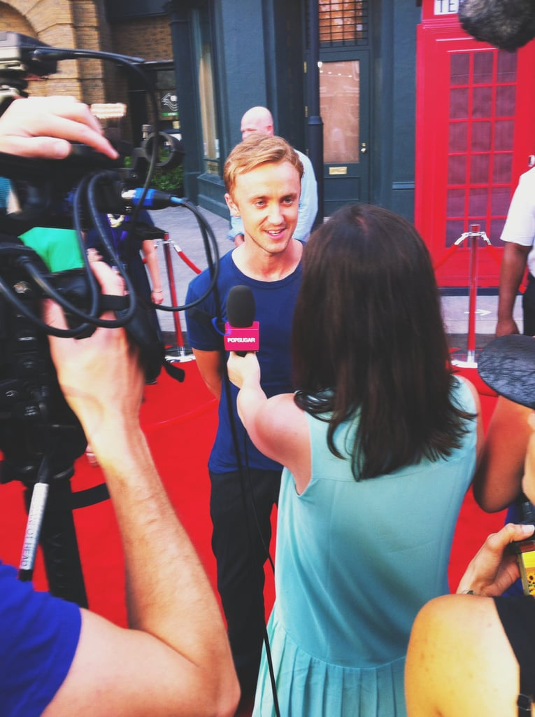 I interviewed Tom Felton on the red carpet, and I must say he's much nicer than his character Draco Malfoy. He had his girlfriend, Jade Olivia (not pictured), by his side at the event.