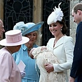 """The Queen: """"I Hope You're Holding Tightly to My Precious Great-Granddaughter."""""""
