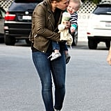 Hilary Duff showed Luca Comrie some love.