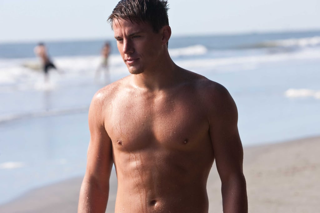 Channing Tatum went shirtless in Dear John.