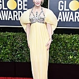 Cate Blanchett's Pleated, Poof-Sleeve Dress at the 2020 Golden Globes