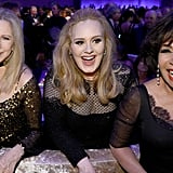 With Barbra Streisand and Shirley Bassey.
