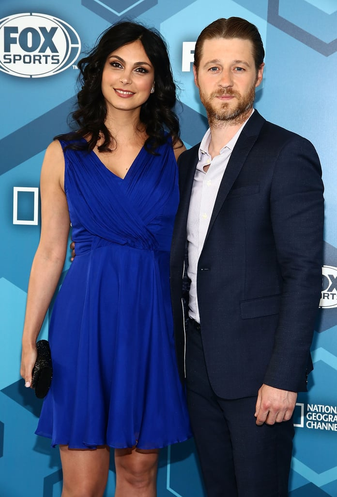 Morena Baccarin and Ben McKenzie looked as happy as can be when they attended the Fox Upfronts presentation in NYC on Monday. The couple, who dressed to the nines in matching blue ensembles, exchanged loving glances at the event while representing their hit show, Gotham. Leighton Meester also popped up on the carpet to promote her new show, Making History. The duo's latest appearance marks their first red carpet together since Morena gave birth to their baby girl, Frances Laiz Setta Schenkkan, back in March. Check out even more stars who are expecting babies this year!