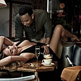 The couple got super sexy on top of a restaurant table (perhaps a nod to Chrissy's love of cooking?) in a spread for GQ's February 2015 issue.