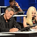 George Clooney and Gwen Stefani