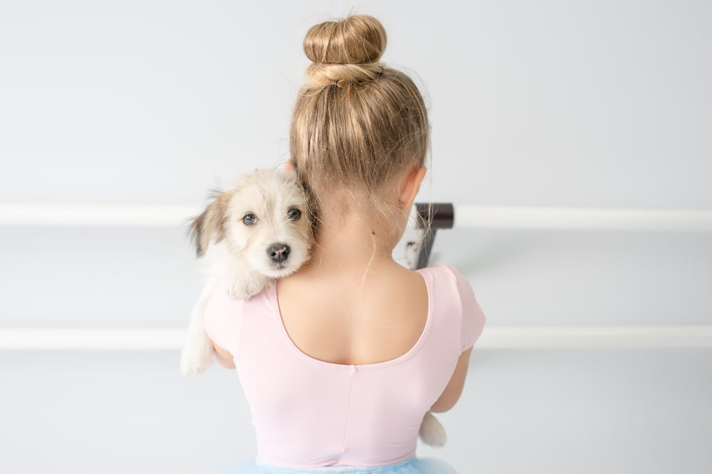 Cute Photos of Tiny Ballerinas and Rescue Puppies
