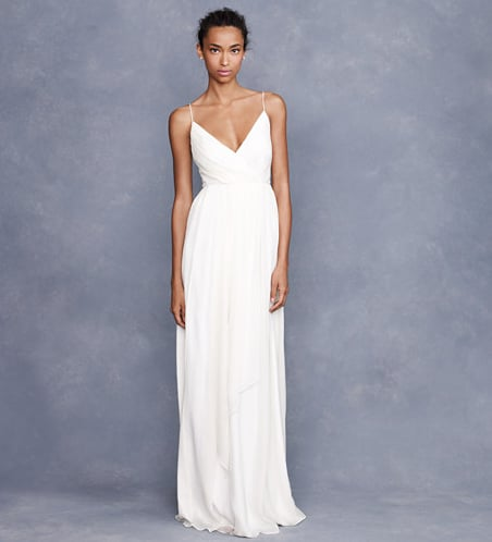 We love the simplicity and understated femininity of this gown.  J.Crew Angelique Gown ($675)
