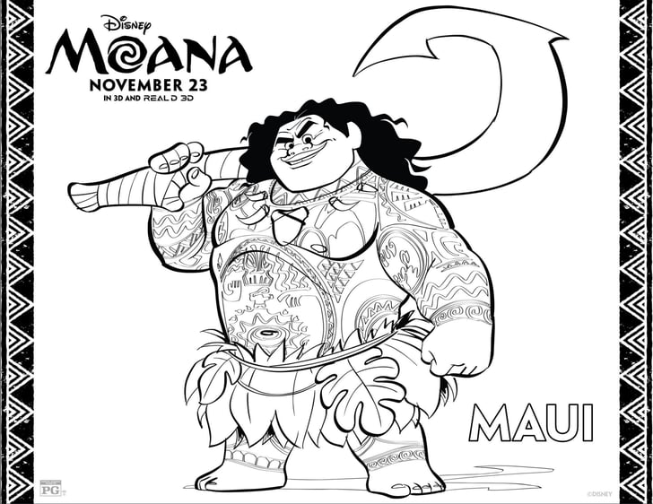 Maui Printable Coloring Sheet   Disney's Printable Moana ...