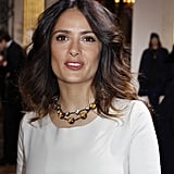 Salma Hayek went to Paris.