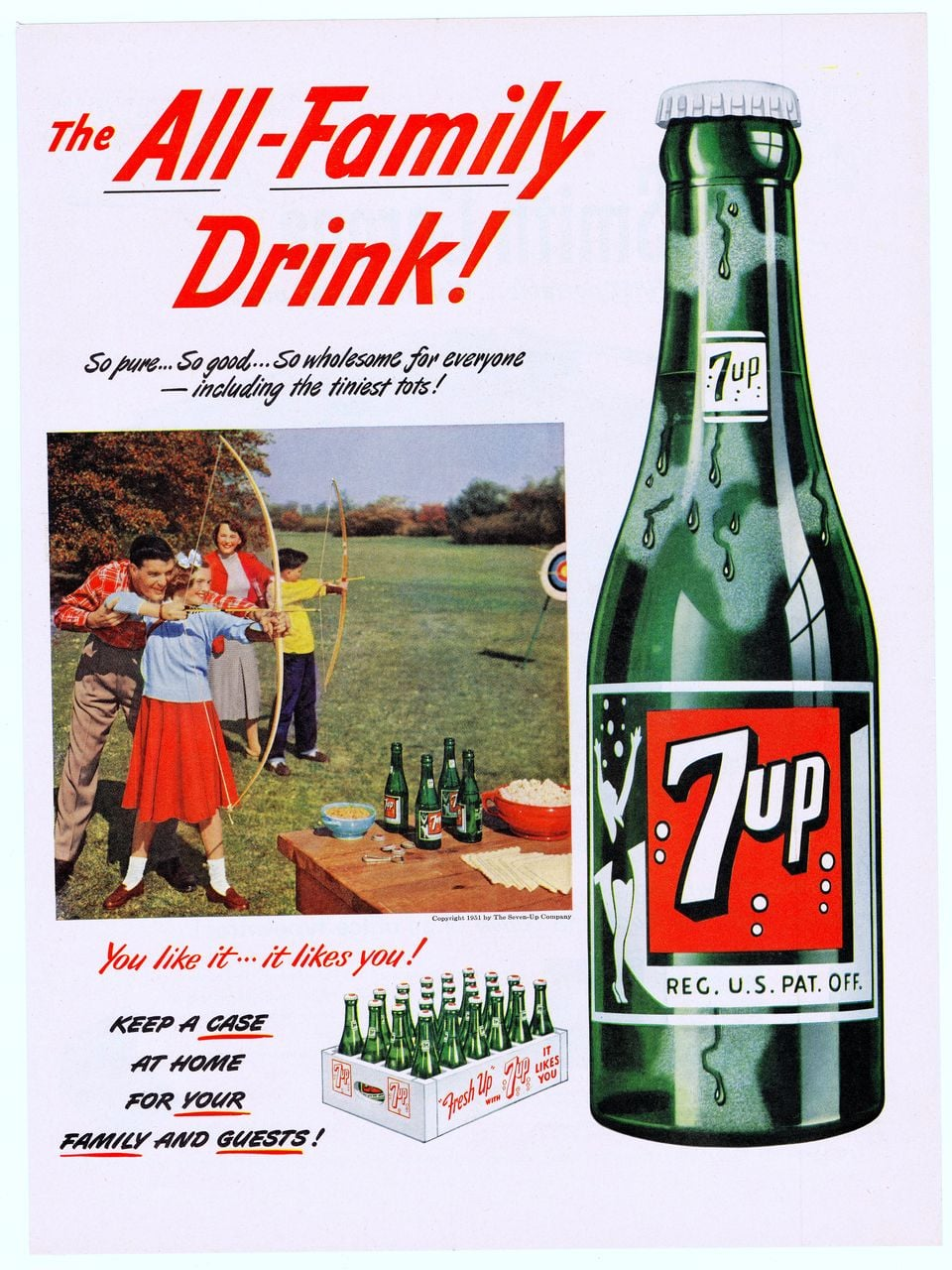 Drink 7UP.It refreshes the whole family during the hunger games.