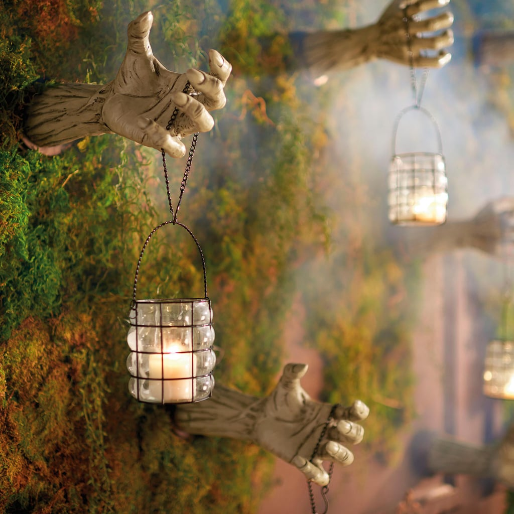 Creepy Hands With Lanterns, Set Of 2